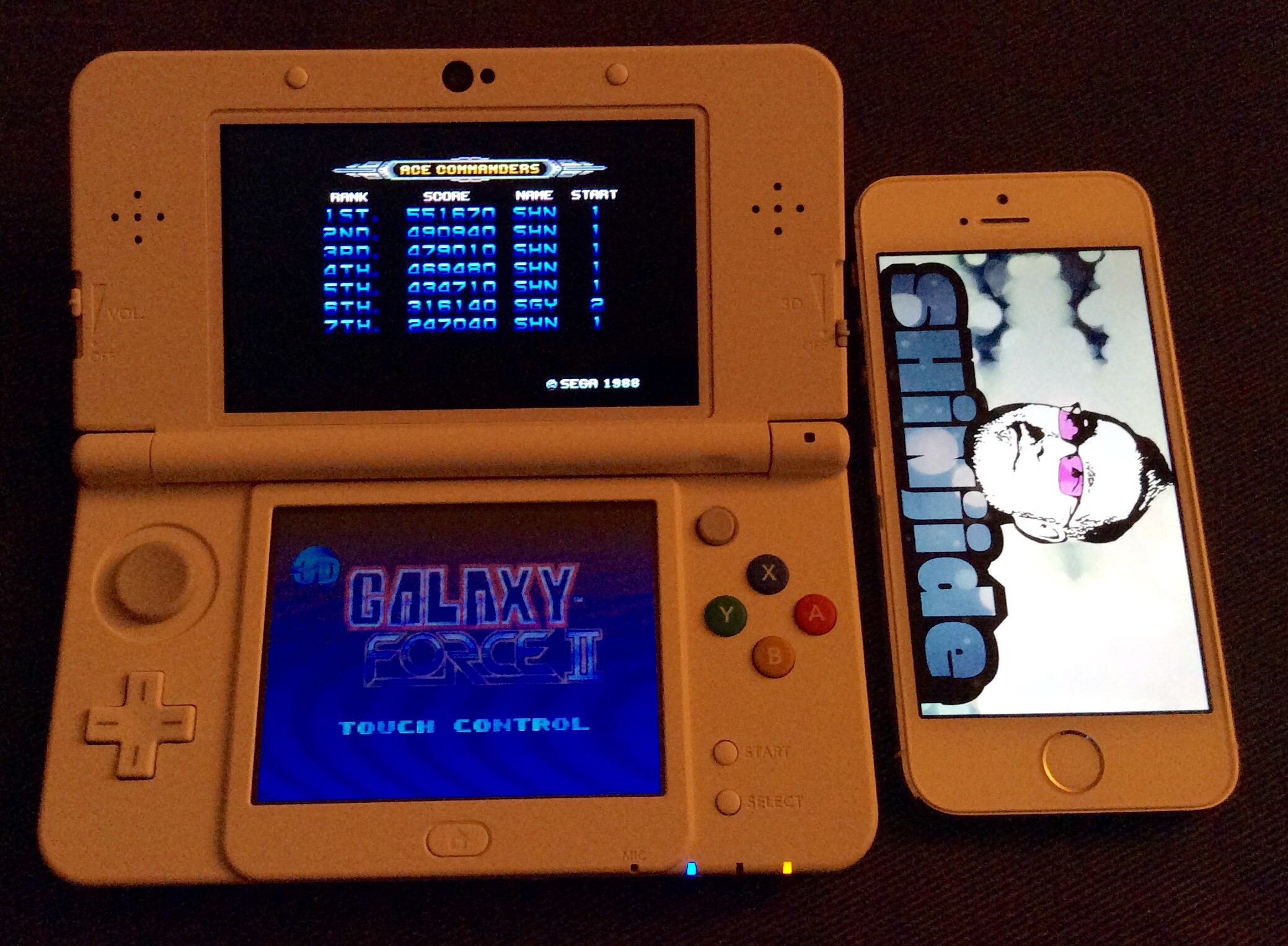 SHiNjide: Galaxy Force II 3D (Nintendo 3DS) 551,670 points on 2015-01-21 15:21:15