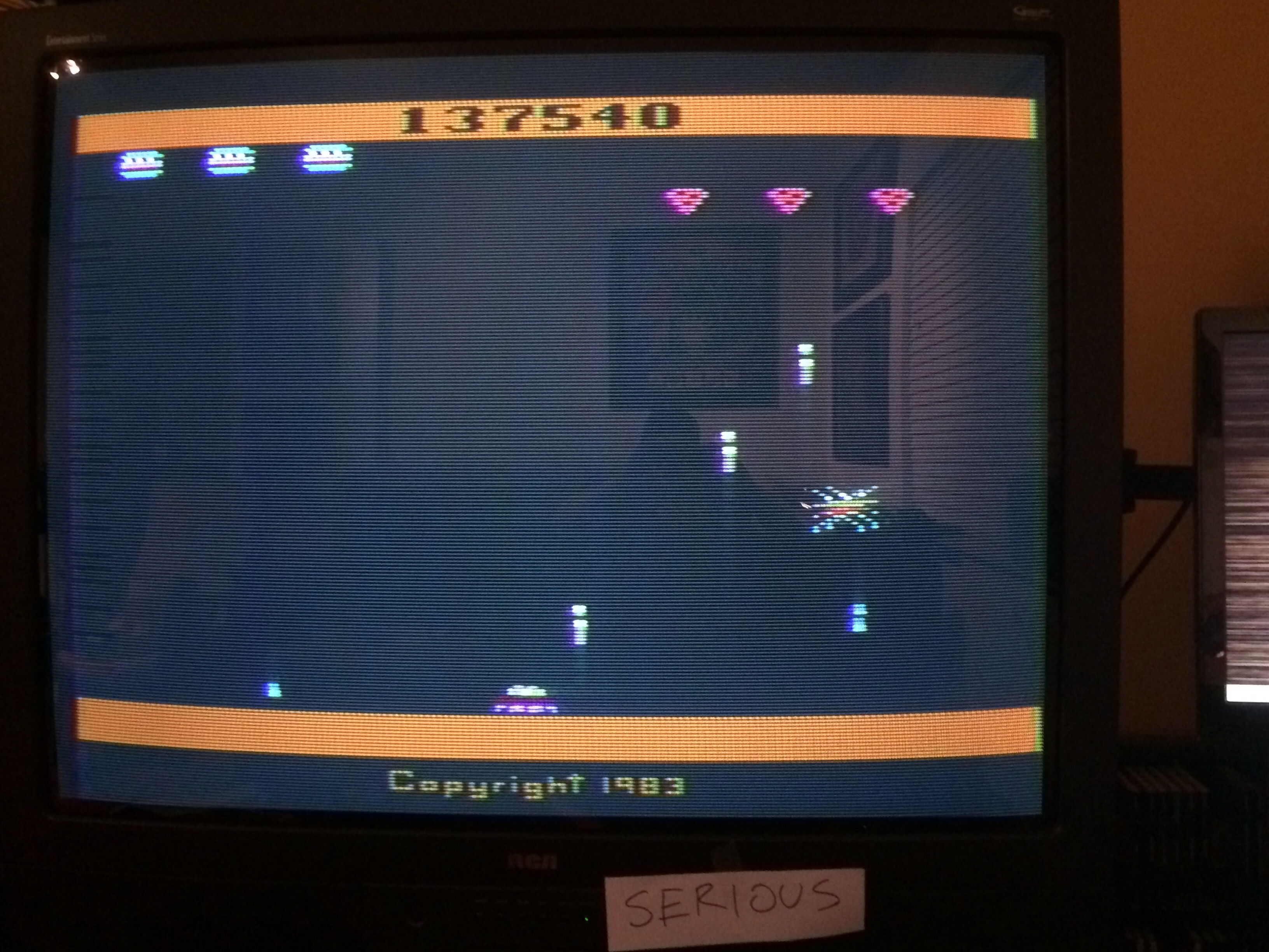 Serious: Spider Fighter (Atari 2600 Expert/A) 137,540 points on 2015-01-21 16:07:55