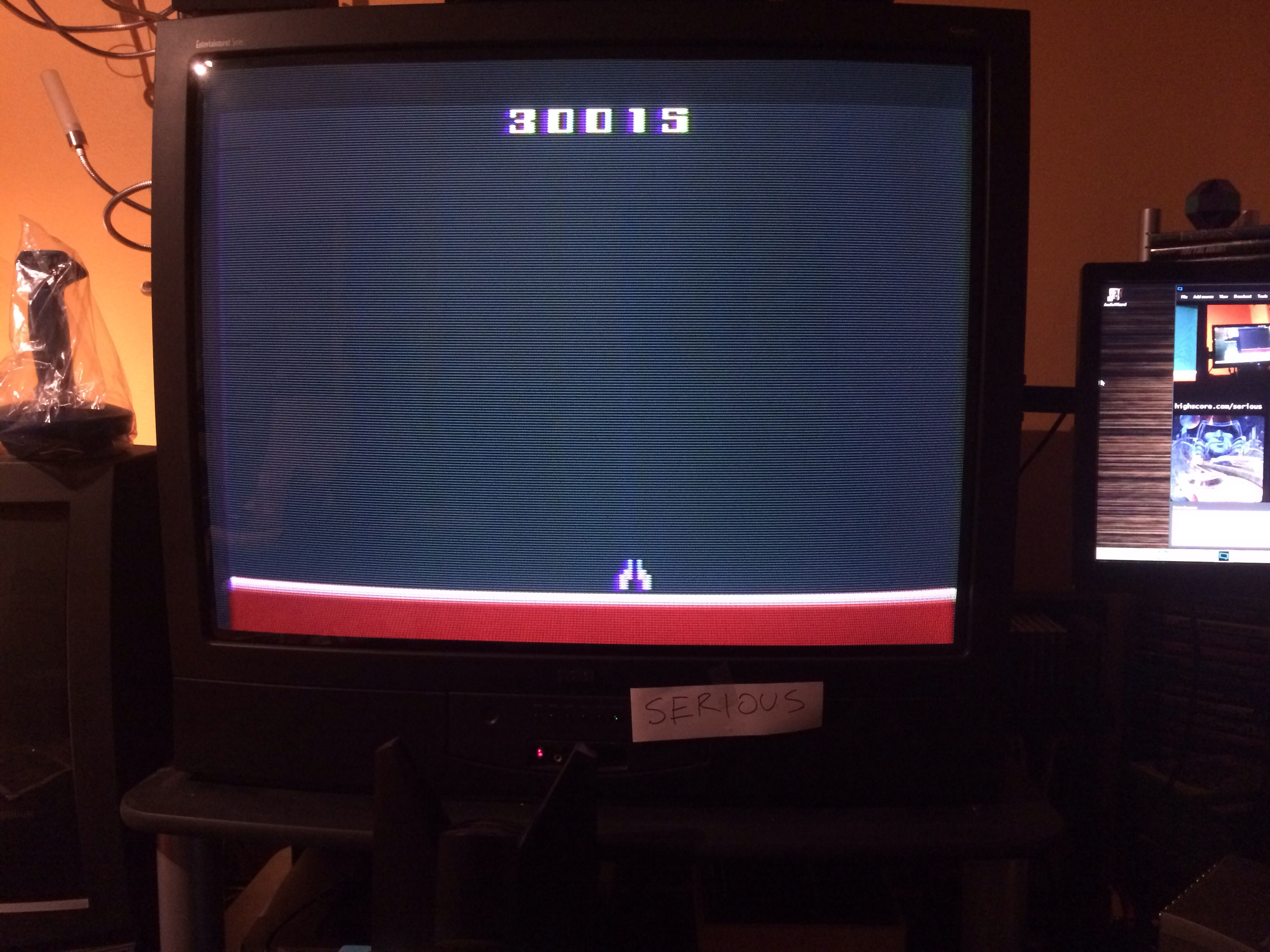 Serious: Demon Attack (Atari 2600 Novice/B) 30,015 points on 2015-01-22 13:51:17