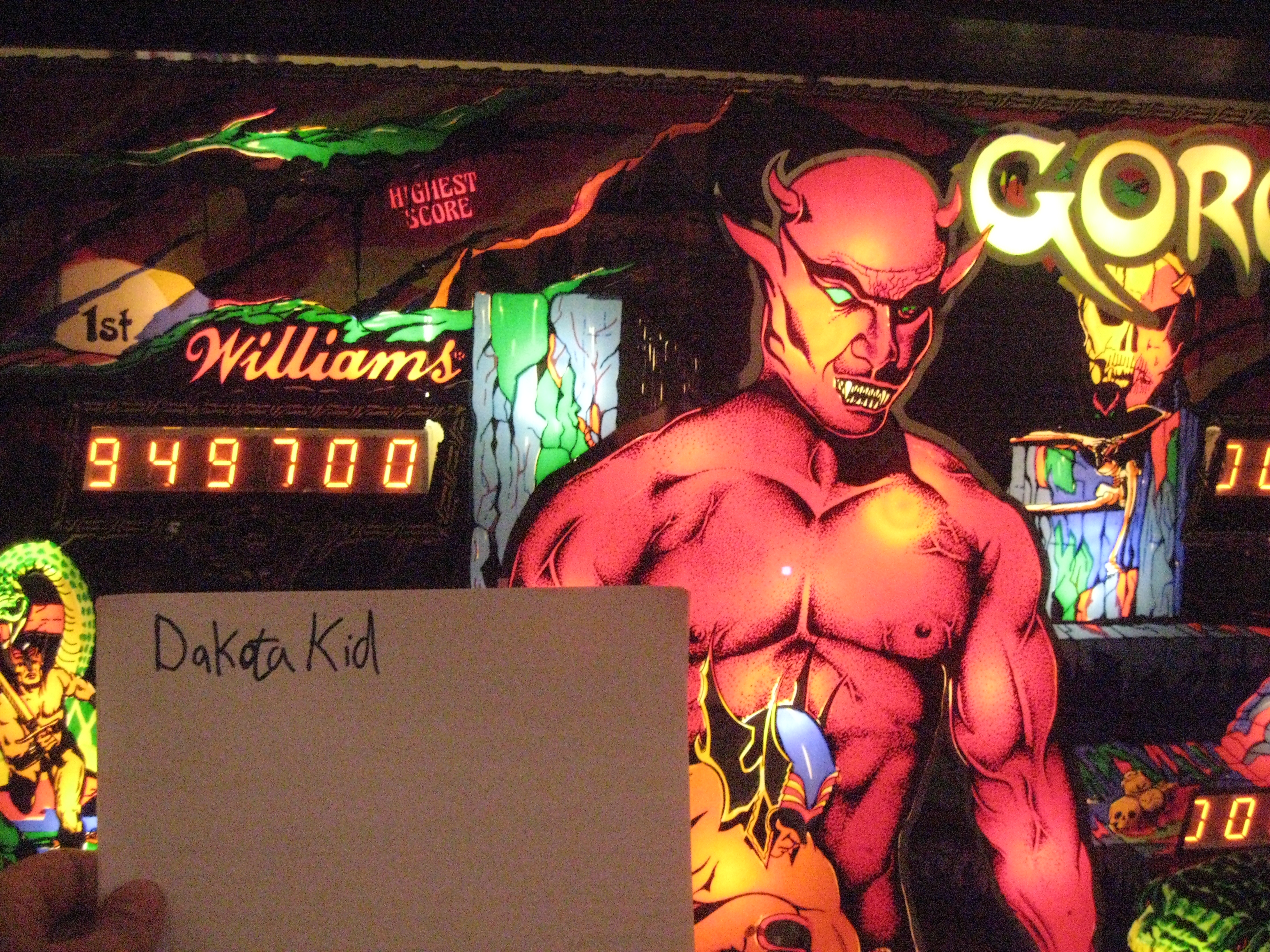 DakotaKid: Gorgar (Pinball: 3 Balls) 949,700 points on 2015-01-22 21:42:25
