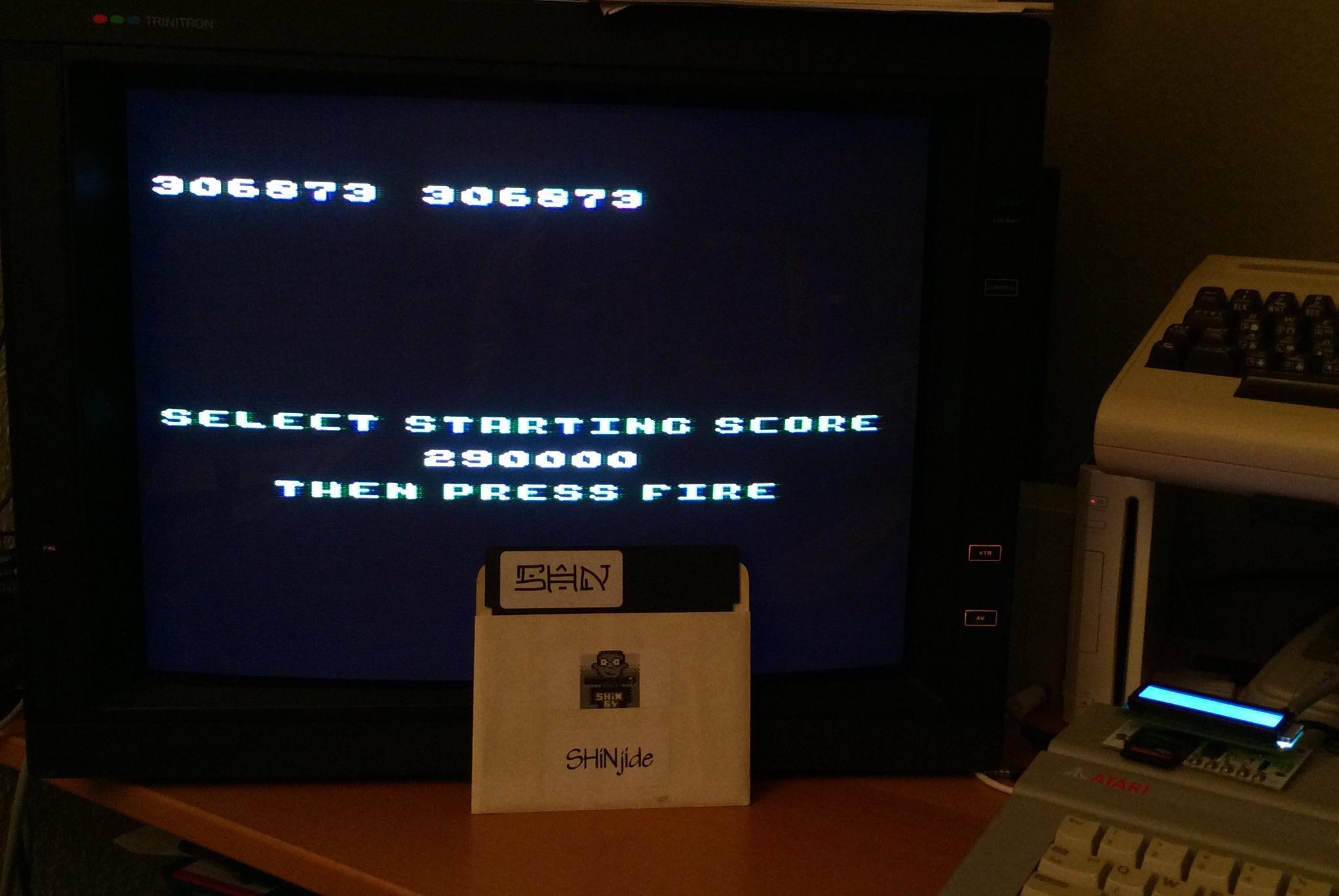 SHiNjide: Millipede (Atari 400/800/XL/XE) 306,873 points on 2015-01-23 15:51:15