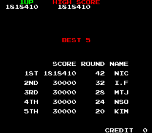 Bubble Bobble 1,818,410 points