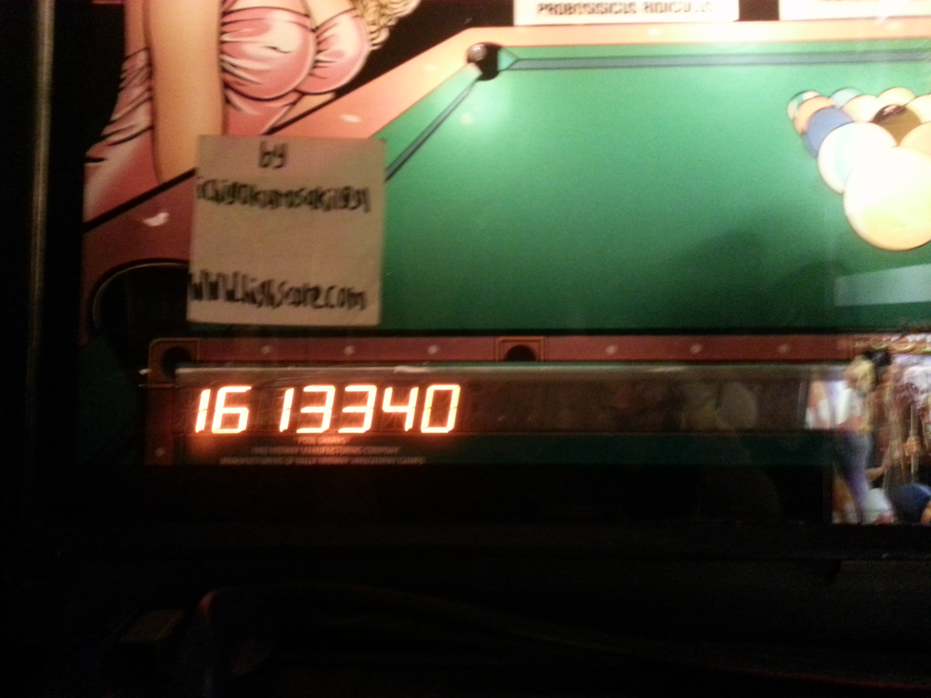 Pool Sharks 1,613,340 points