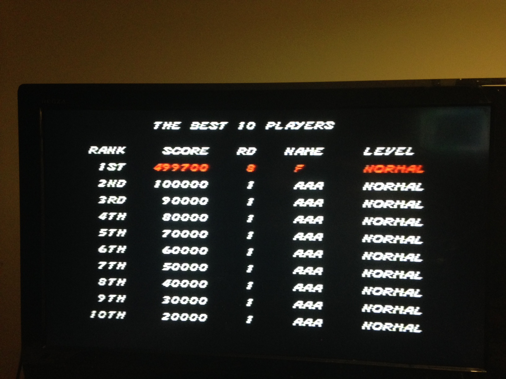 Streets of Rage 499,700 points