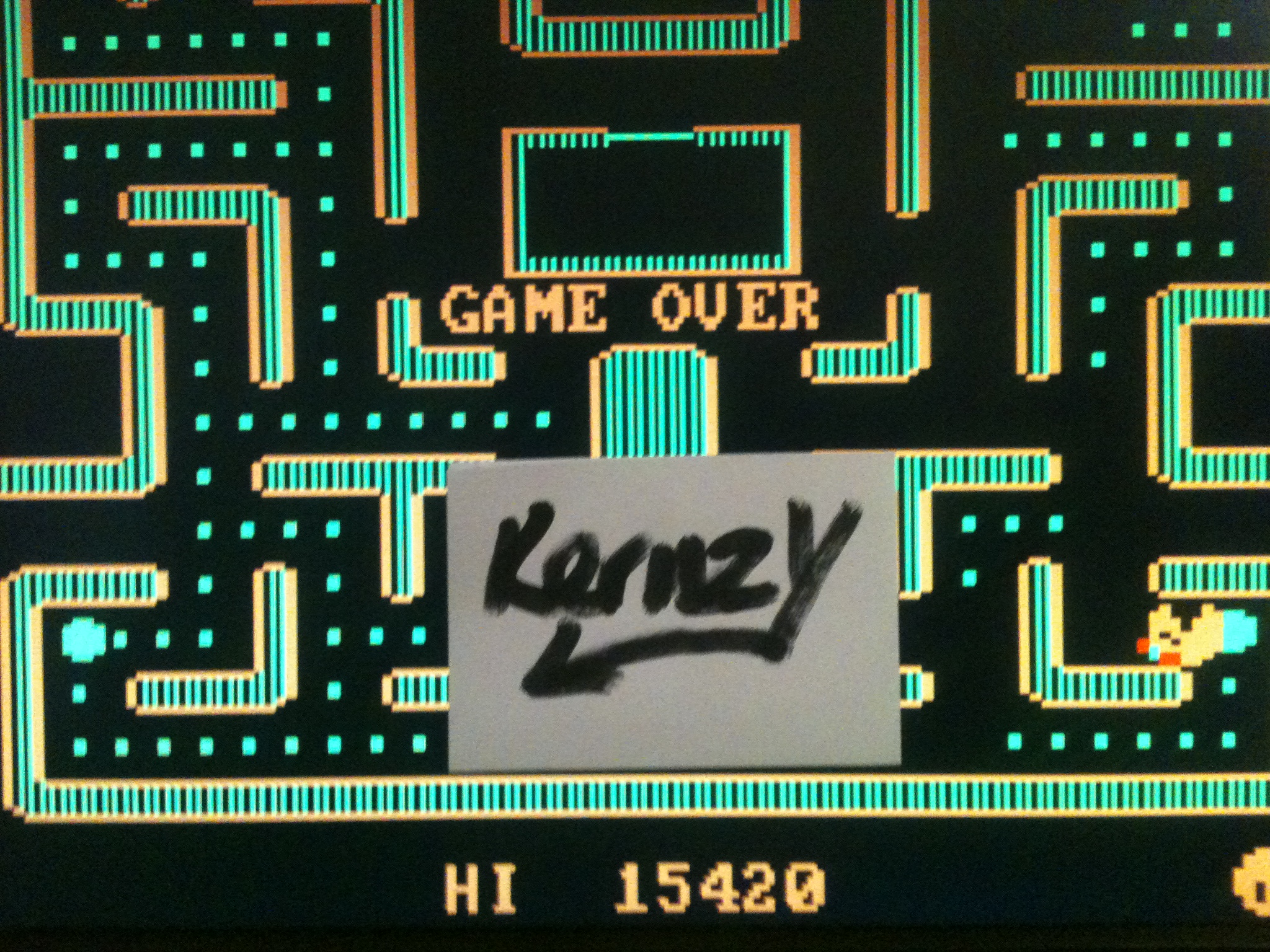 kernzy: Ms. Pac-Man (PC Emulated / DOSBox) 15,420 points on 2015-01-26 11:49:19