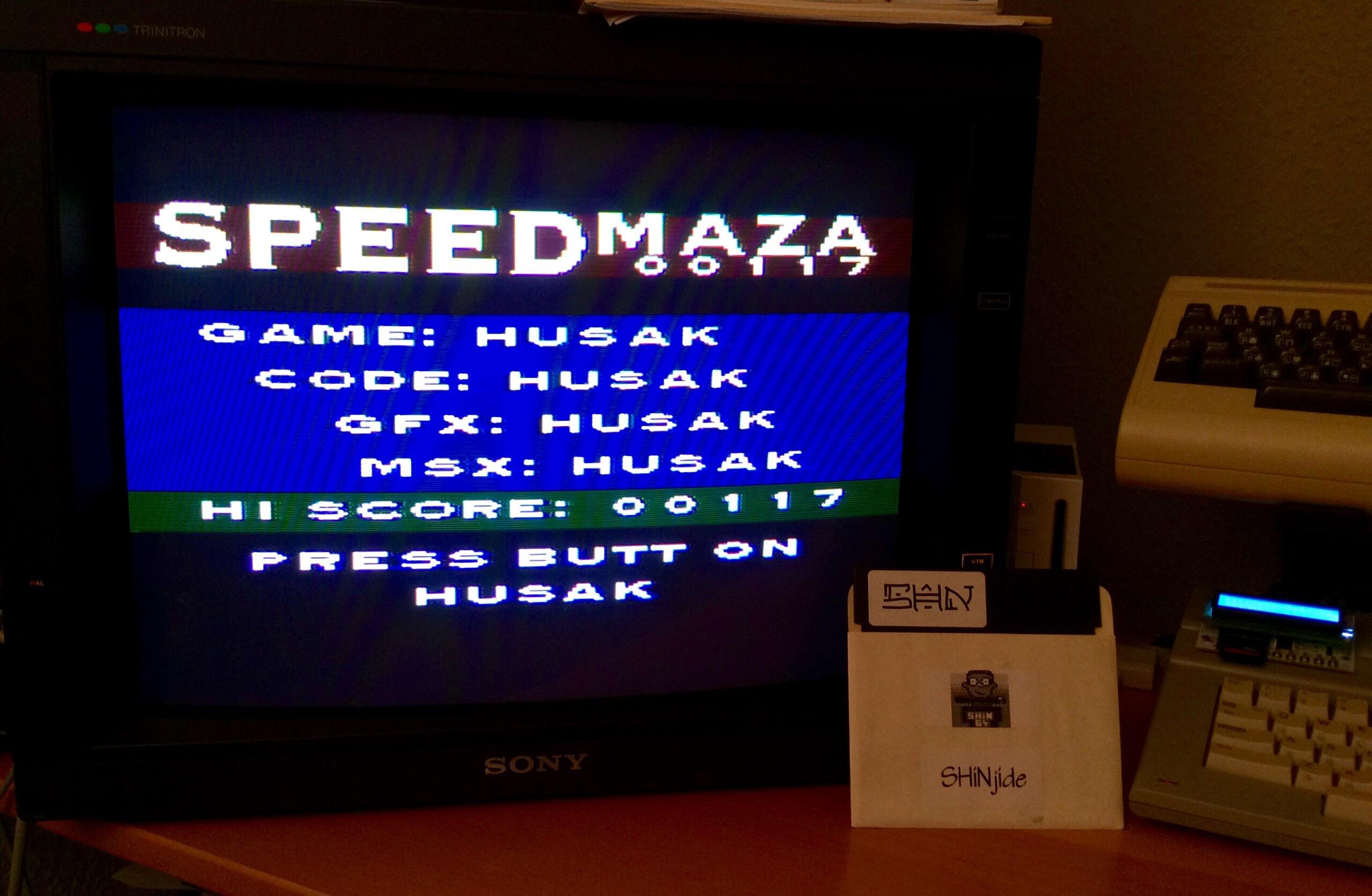 SHiNjide: SPEEDmaza (Atari 400/800/XL/XE) 117 points on 2015-01-26 14:49:39