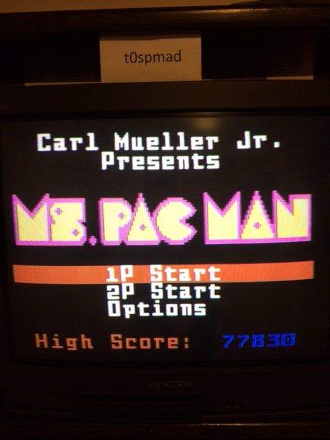 Ms. Pac-Man 77,830 points