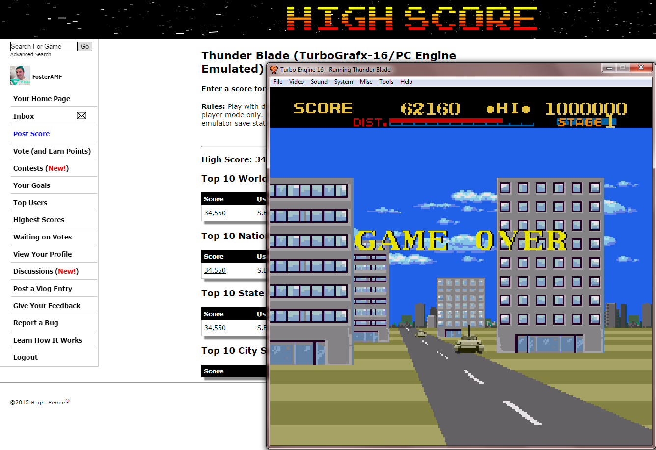 FosterAMF: Thunder Blade (TurboGrafx-16/PC Engine Emulated) 62,160 points on 2015-01-26 23:23:20