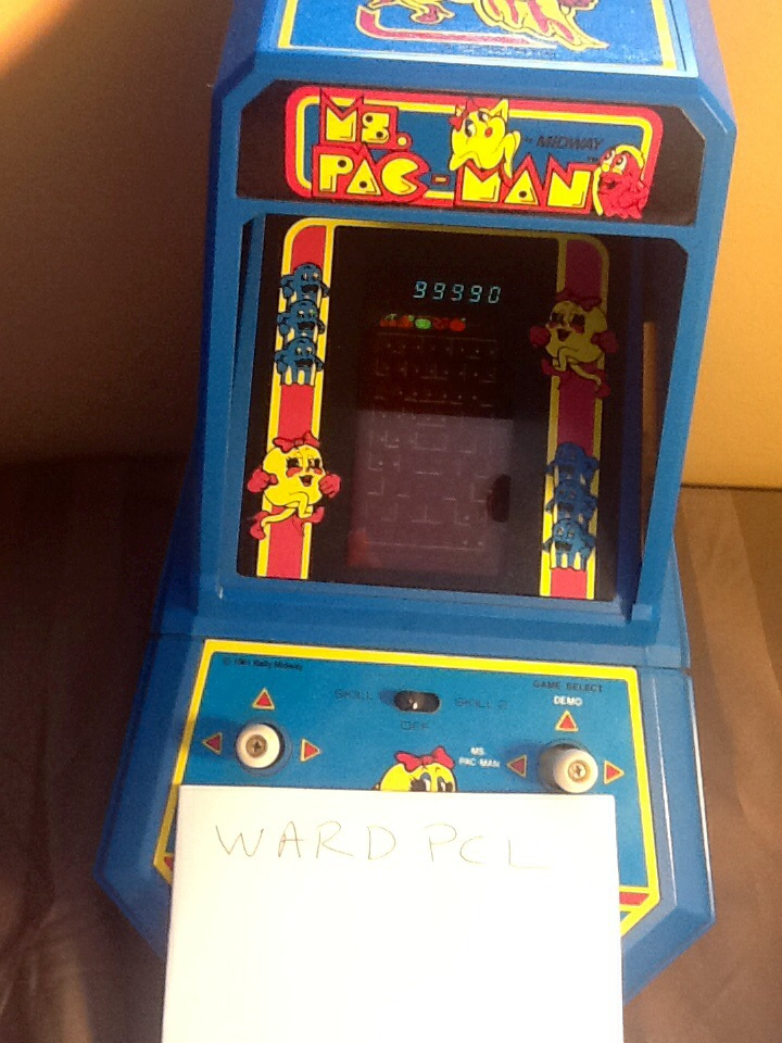 Coleco Ms. Pac-Man 99,990 points