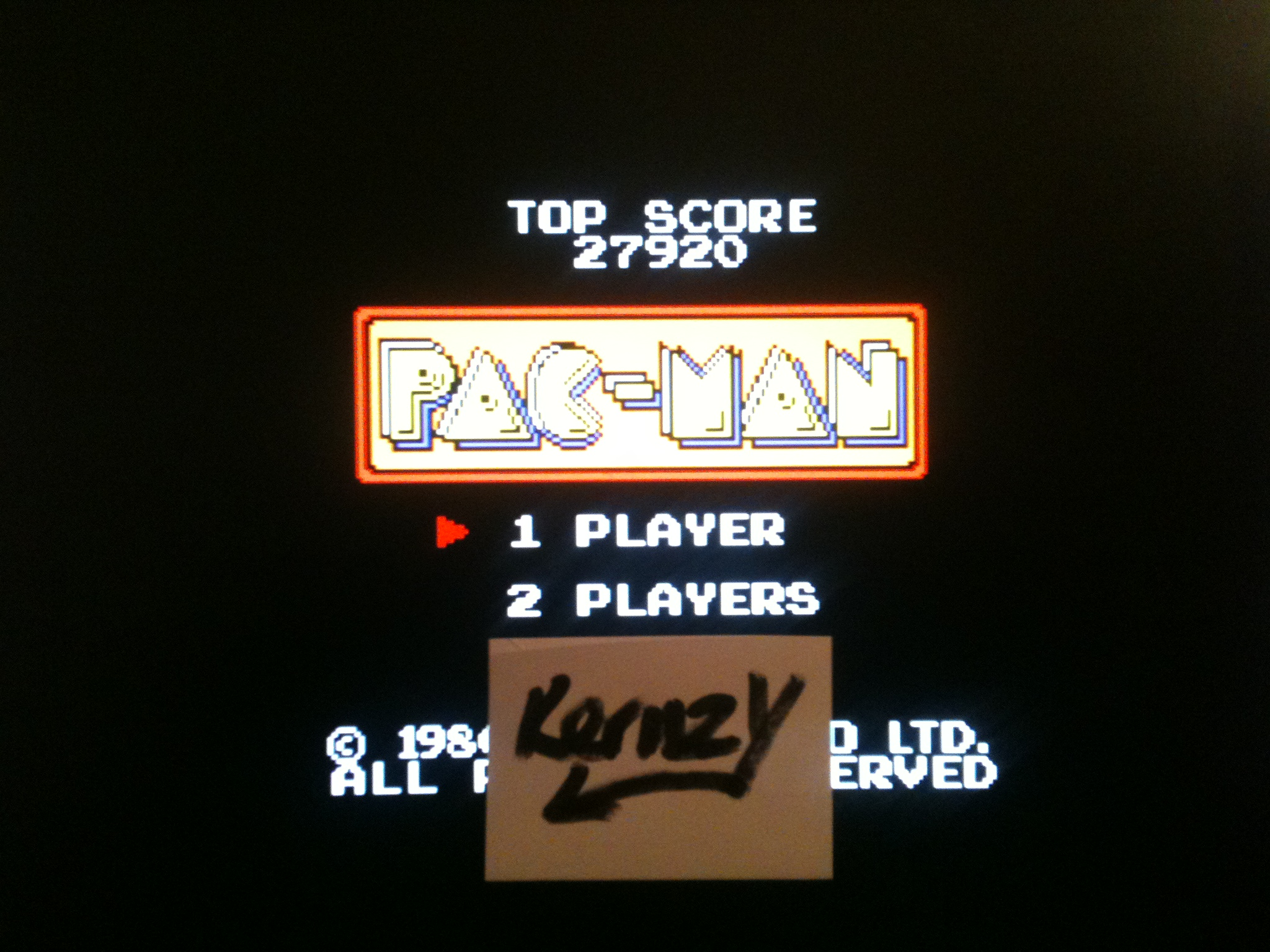 kernzy: Pac-Man (Sega Game Gear Emulated) 27,920 points on 2015-01-27 14:14:14
