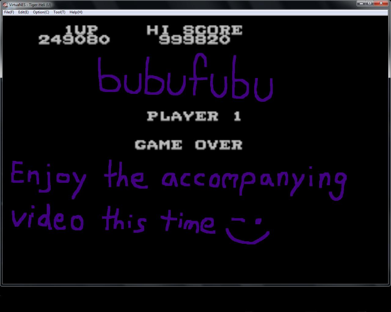 bubufubu: Tiger-Heli (NES/Famicom Emulated) 1,249,080 points on 2015-01-27 14:25:34