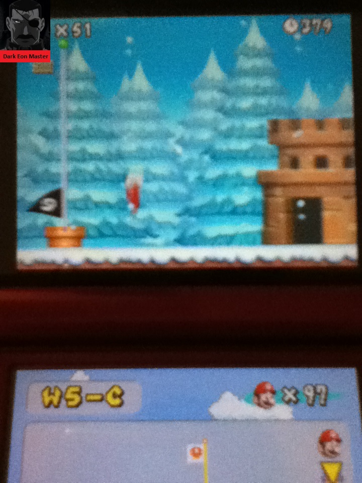 DarkEonMaster: New Super Mario Bros.: World 5-C [Remaining Time] (Nintendo DS) 379 points on 2015-01-27 16:28:47