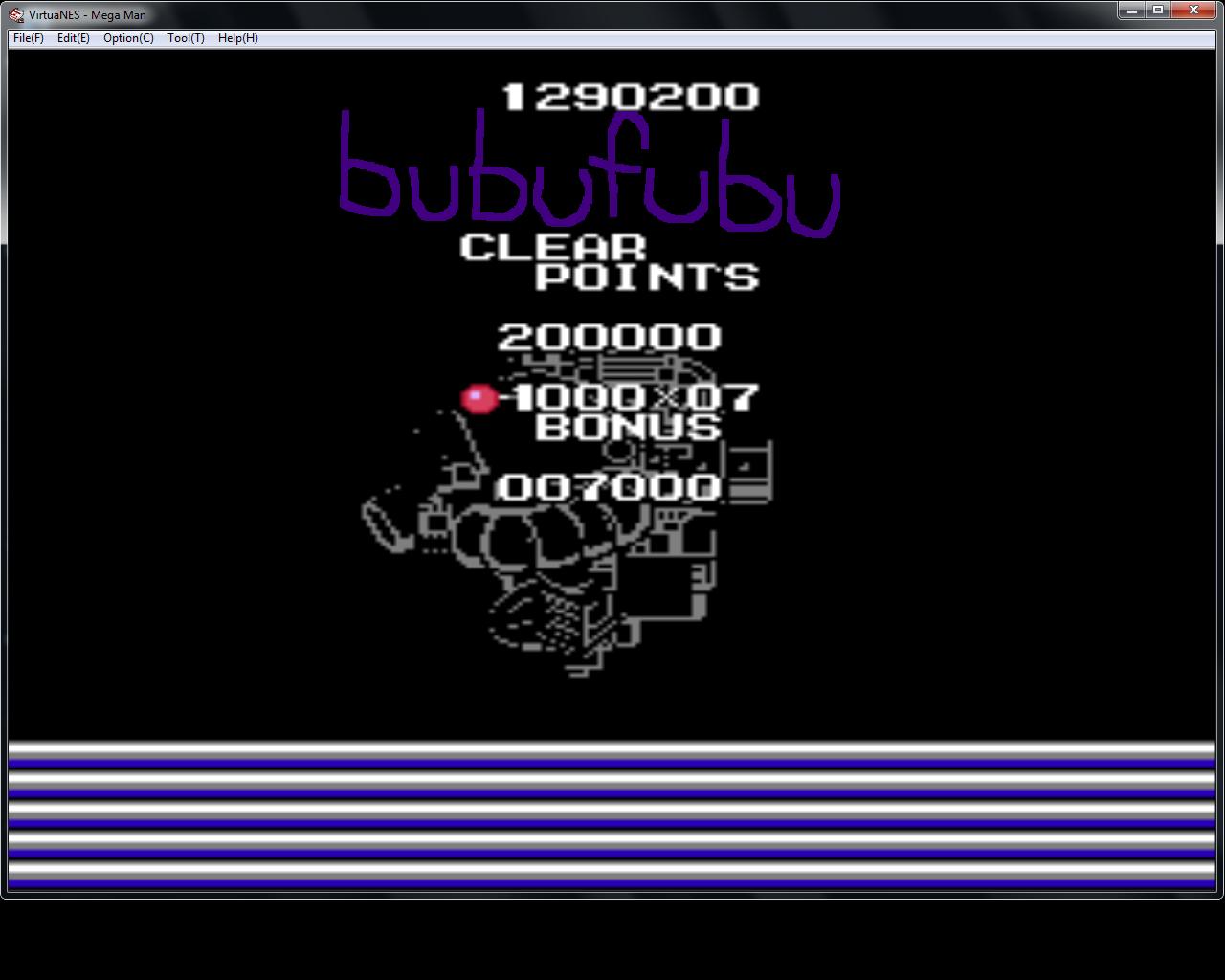 bubufubu: Mega Man (NES/Famicom Emulated) 1,290,200 points on 2015-01-27 17:56:01