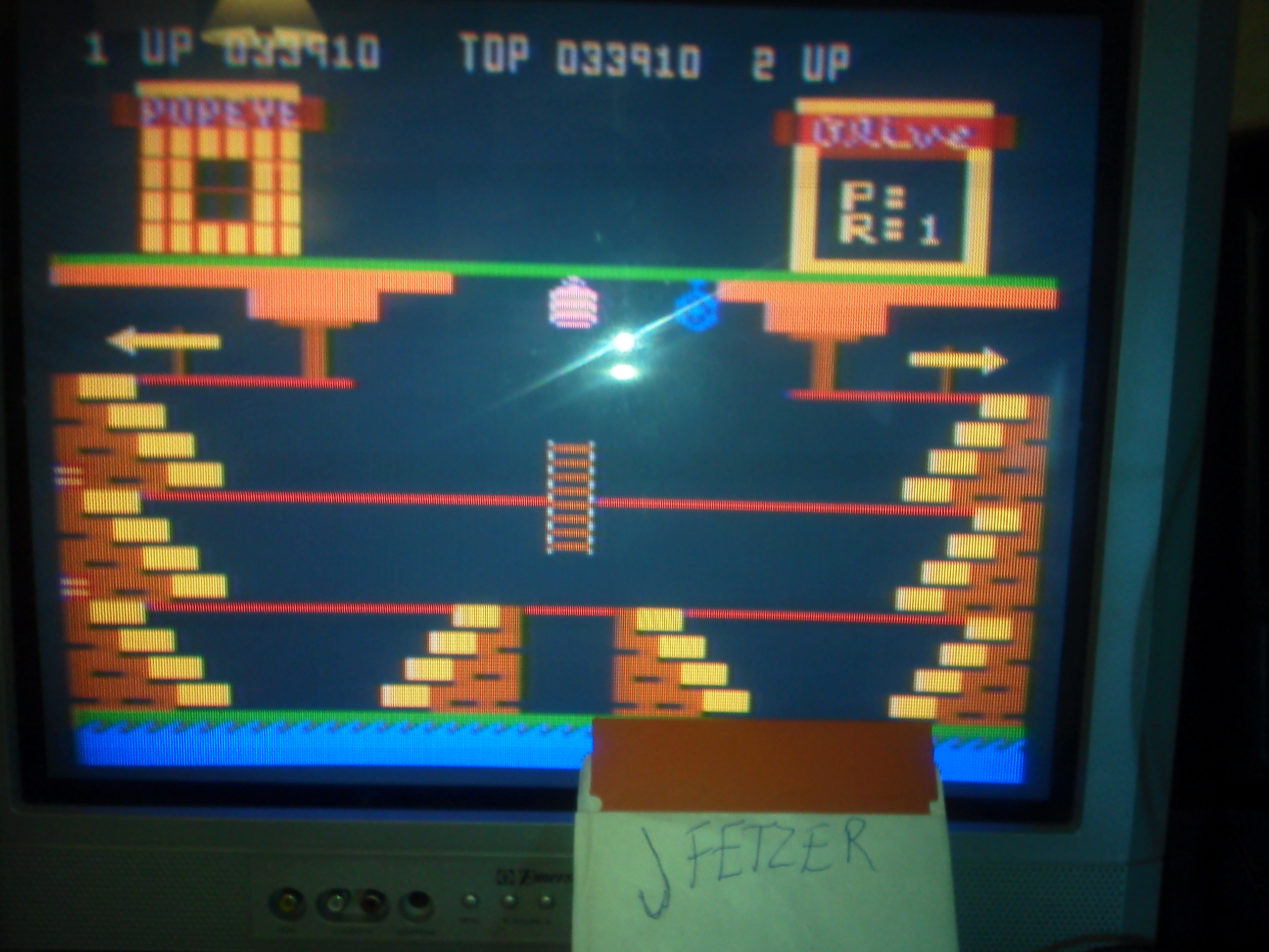 jfetzer: Popeye (Atari 400/800/XL/XE) 33,910 points on 2015-01-28 17:21:06