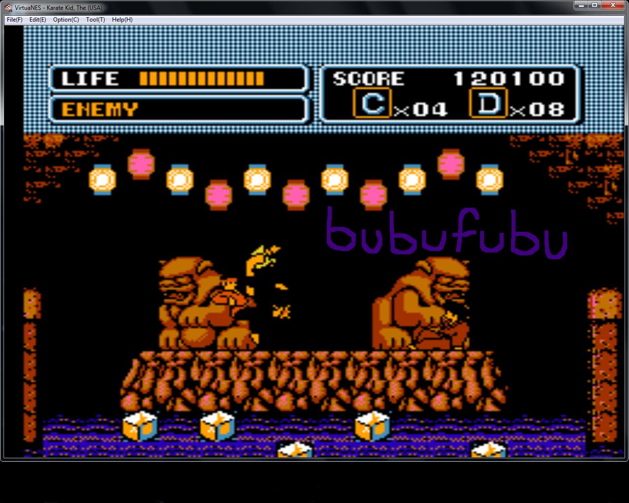 bubufubu: The Karate Kid (NES/Famicom Emulated) 120,100 points on 2015-01-29 16:29:22
