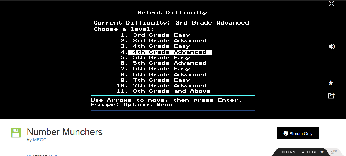 FosterAMF: Number Munchers: Primes [4th Grade Advanced] (PC Emulated / DOSBox) 41,780 points on 2015-01-29 18:06:00