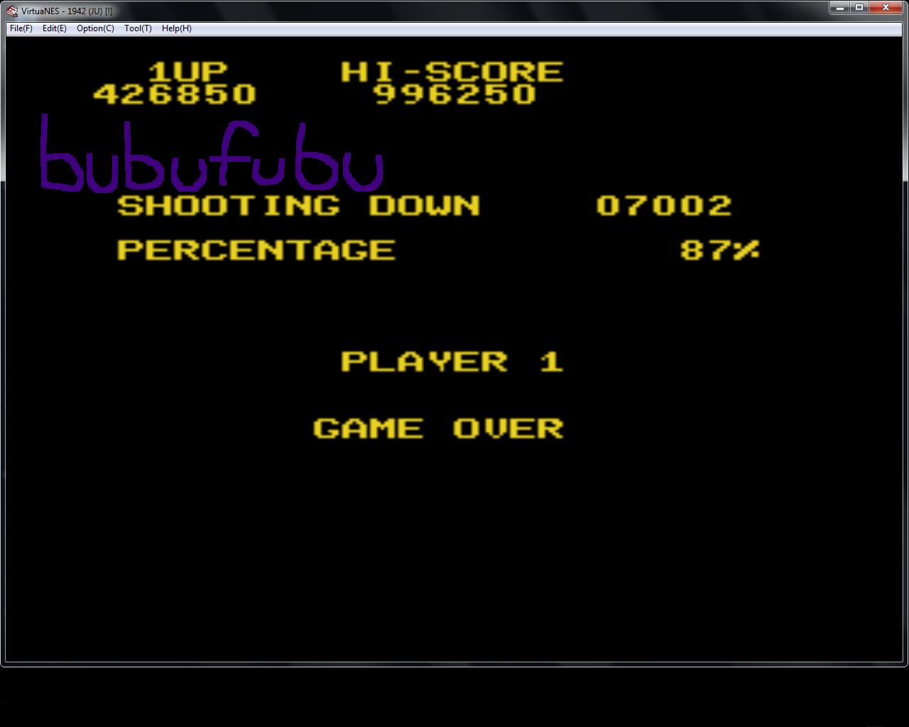 bubufubu: 1919 (NES/Famicom Emulated) 1,426,850 points on 2015-01-30 12:02:29
