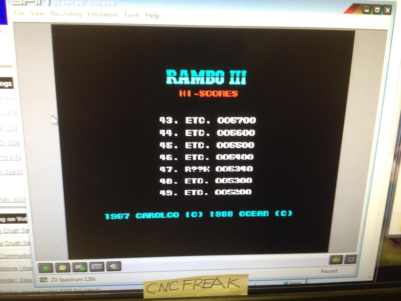 Rambo III 5,340 points