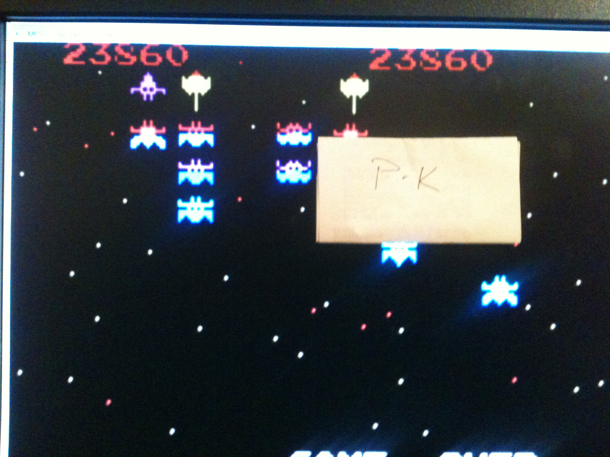 Galaxian: Novice 23,860 points