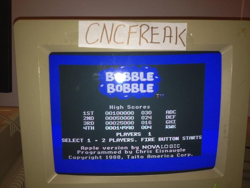 Bubble Bobble 14,990 points