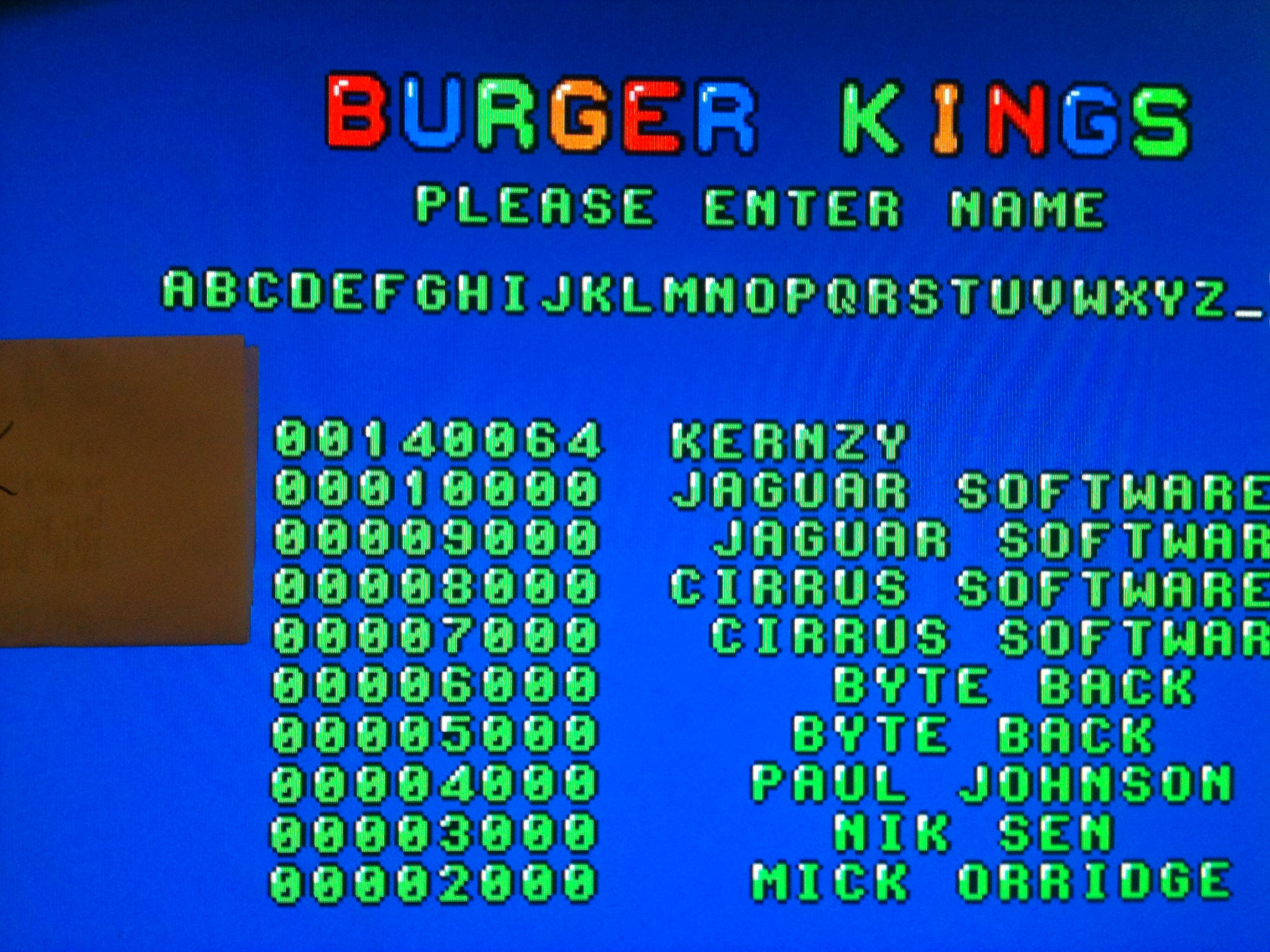 kernzy: BurgerTime (Atari ST Emulated) 140,064 points on 2015-02-02 08:50:49