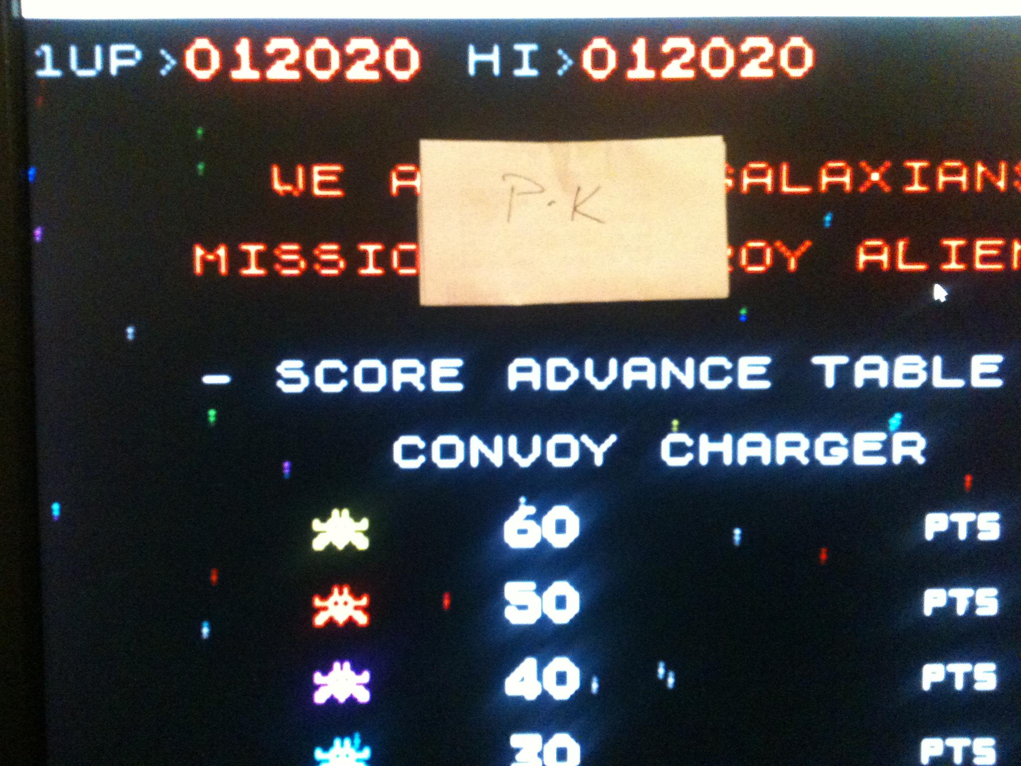 kernzy: Galaxians [Level 1 Start] (ZX Spectrum Emulated) 12,020 points on 2015-02-02 19:07:48