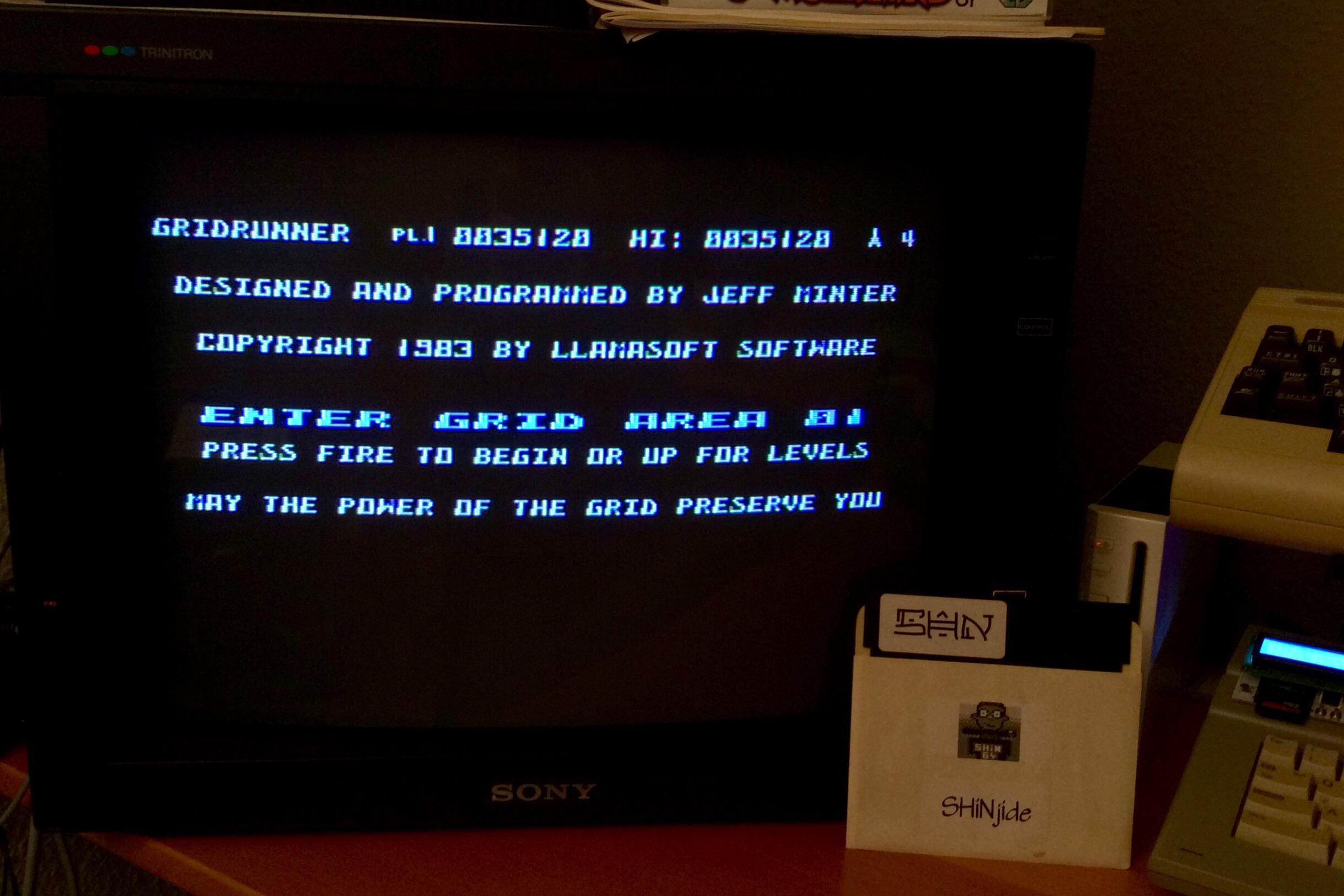 SHiNjide: Gridrunner (Atari 400/800/XL/XE) 35,120 points on 2015-02-04 15:44:23
