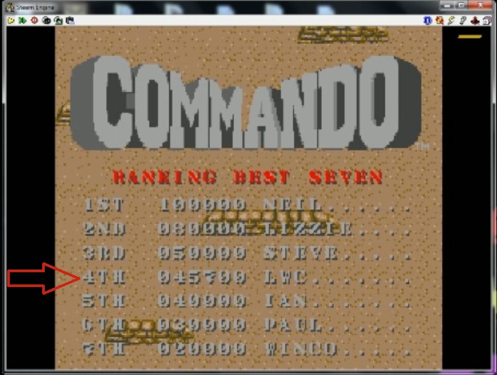 Commando 45,700 points