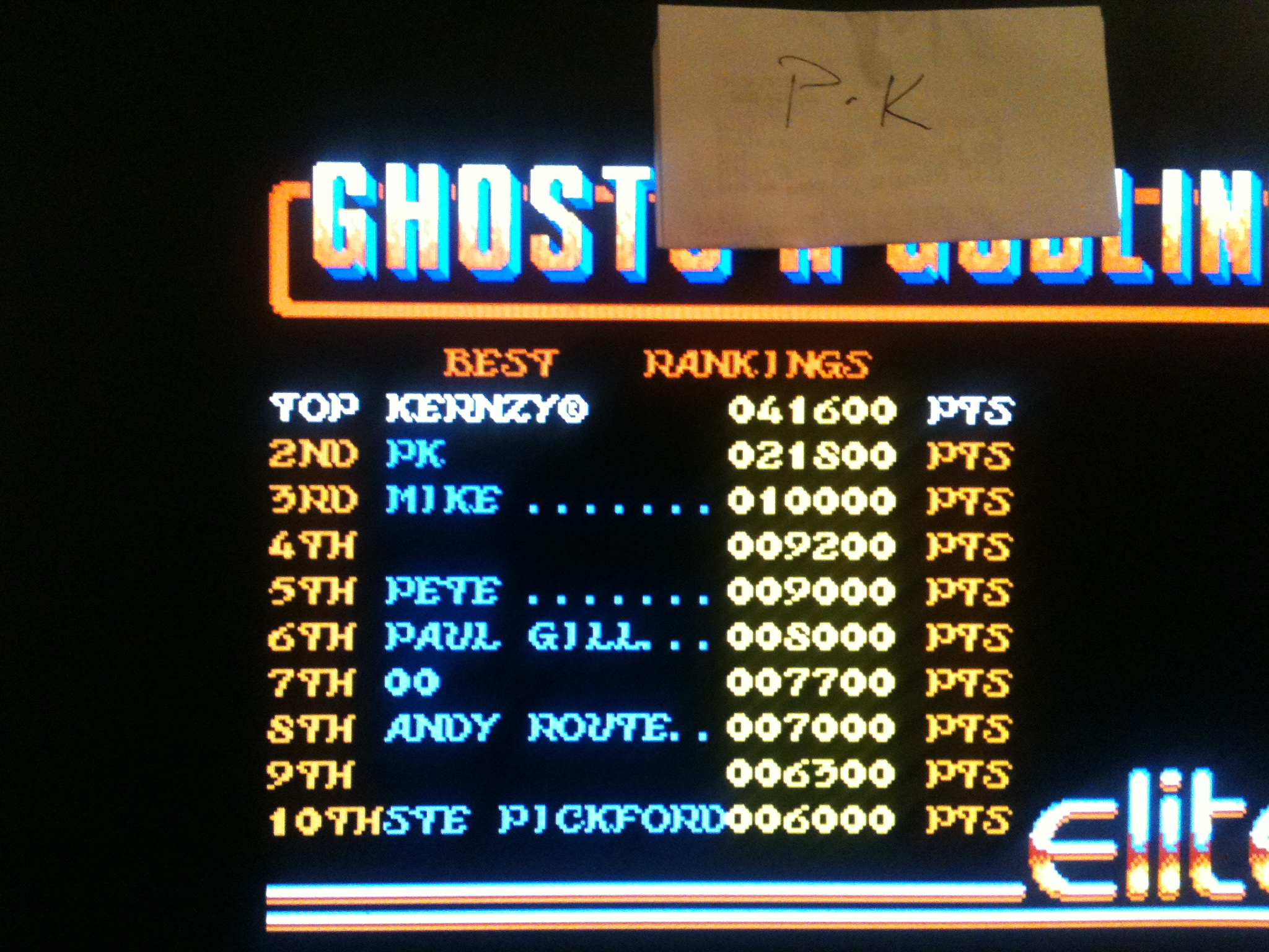 kernzy: Ghosts N Goblins (Atari ST Emulated) 41,600 points on 2015-02-05 11:19:06