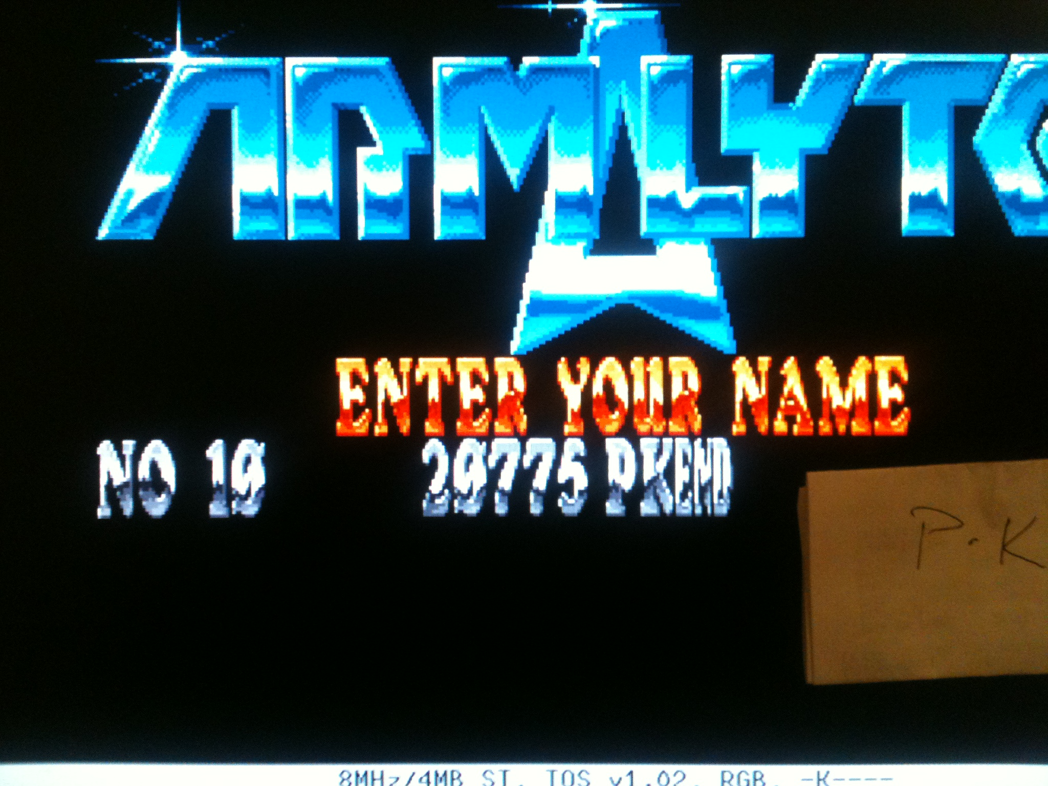 kernzy: Armalyte (Atari ST Emulated) 29,775 points on 2015-02-05 17:56:07