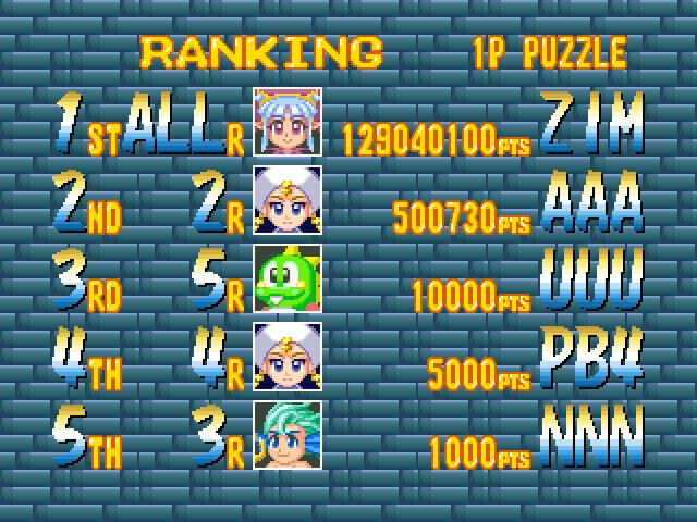 Bust-A-Move 4: Puzzle Mode 129,040,100 points