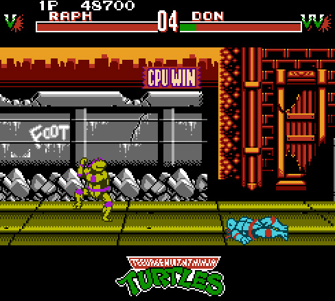 Teenage Mutant Ninja Turtles: Tournament Fighters 48,700 points