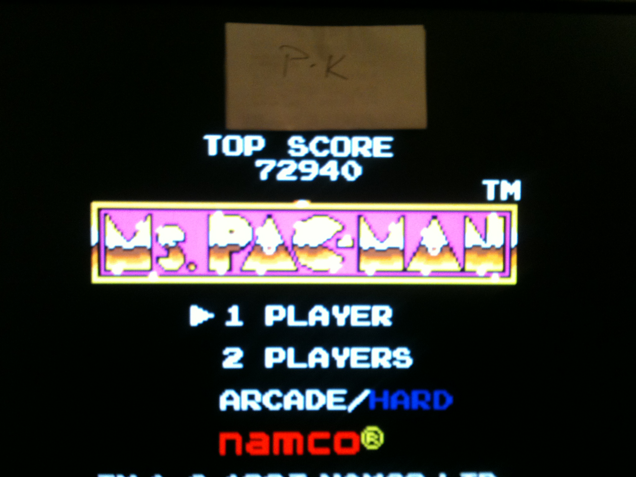 kernzy: Ms. Pac-Man (Sega Game Gear Emulated) 72,940 points on 2015-02-08 09:12:42