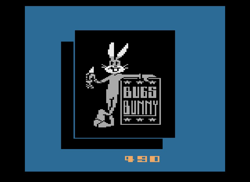 rawbits: Bugs Bunny (Atari 2600 Emulated Novice/B Mode) 490 points on 2015-02-08 13:42:58