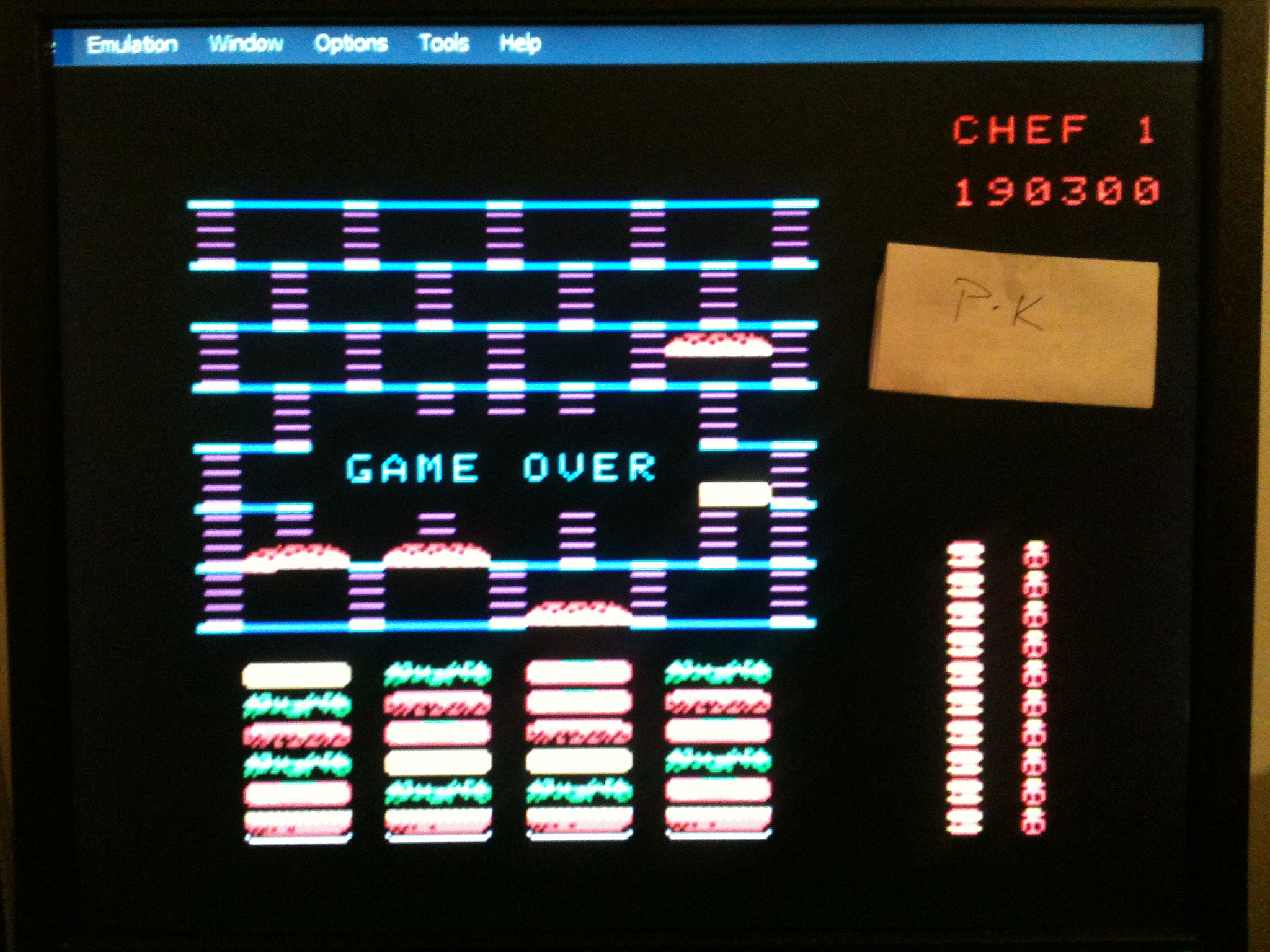 kernzy: BurgerTime (Colecovision Emulated) 190,300 points on 2015-02-09 11:03:38