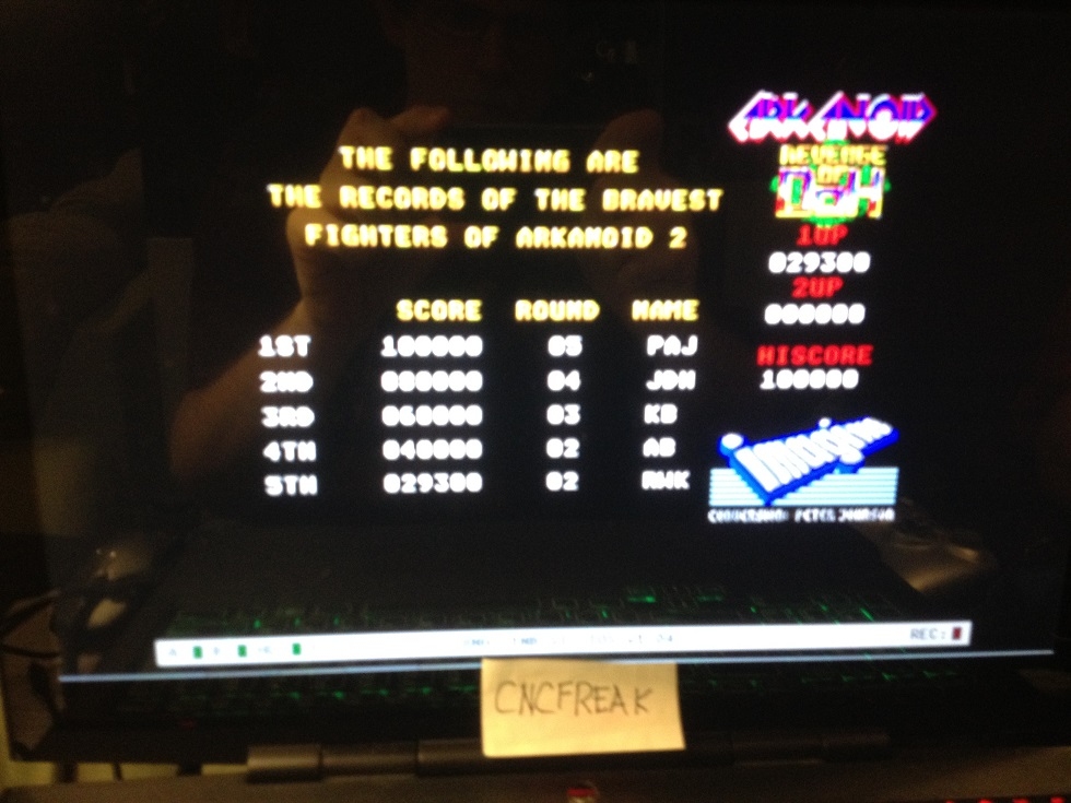 Arkanoid: Revenge of Doh 29,300 points