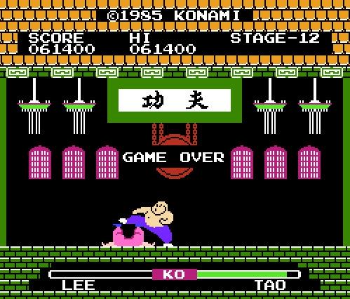 Yie Ar Kung Fu [Level 1] 61,400 points