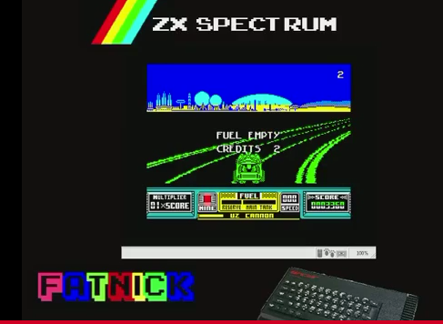 mechafatnick: RoadBlasters (ZX Spectrum Emulated) 3,360 points on 2015-02-11 01:29:42