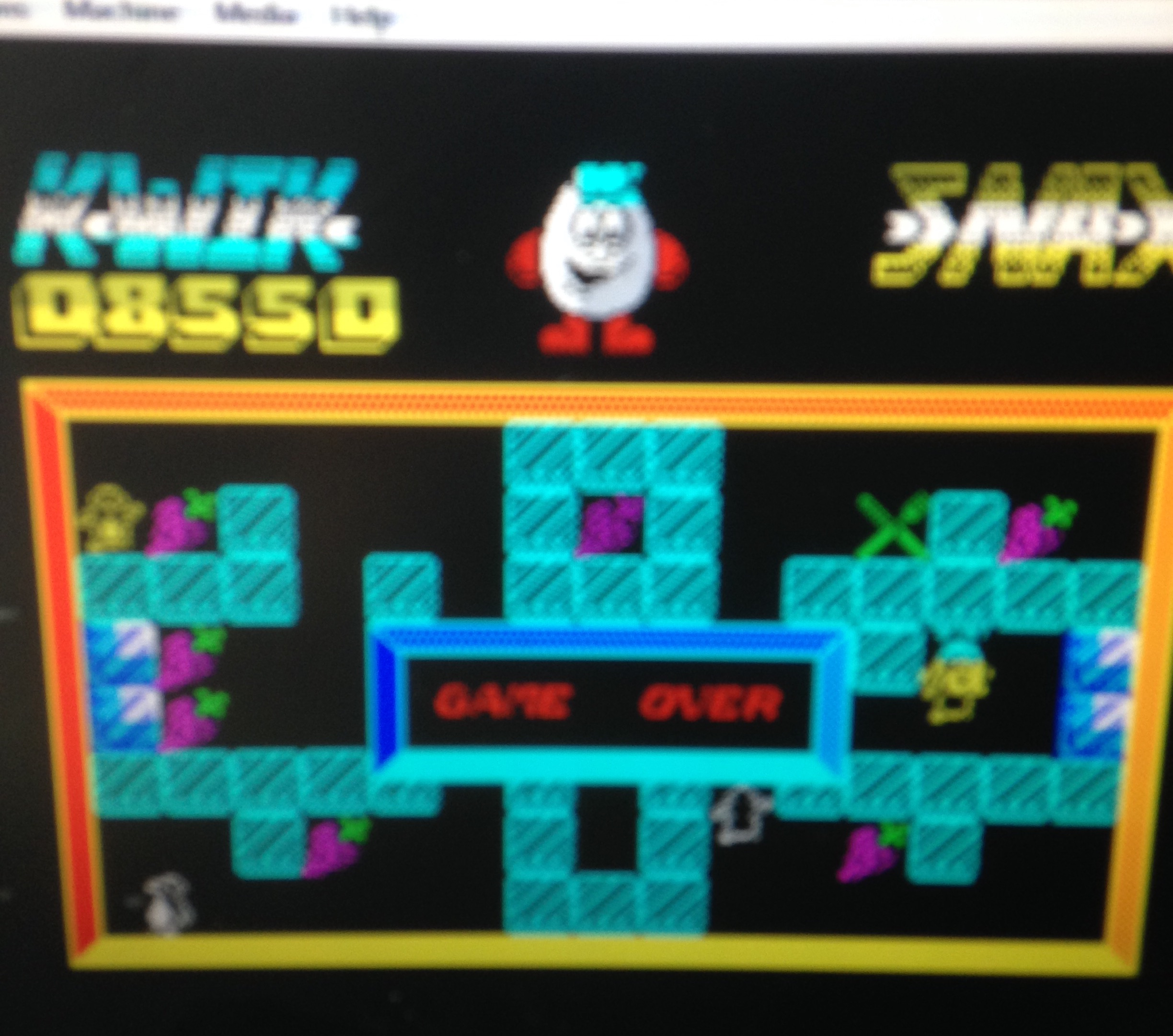 mechafatnick: Kwik Snax (ZX Spectrum Emulated) 8,550 points on 2015-02-11 01:34:33