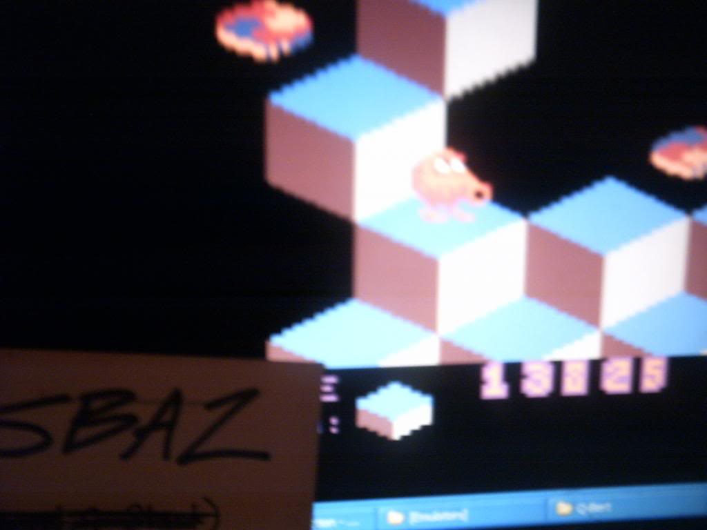 Q*Bert 13,825 points