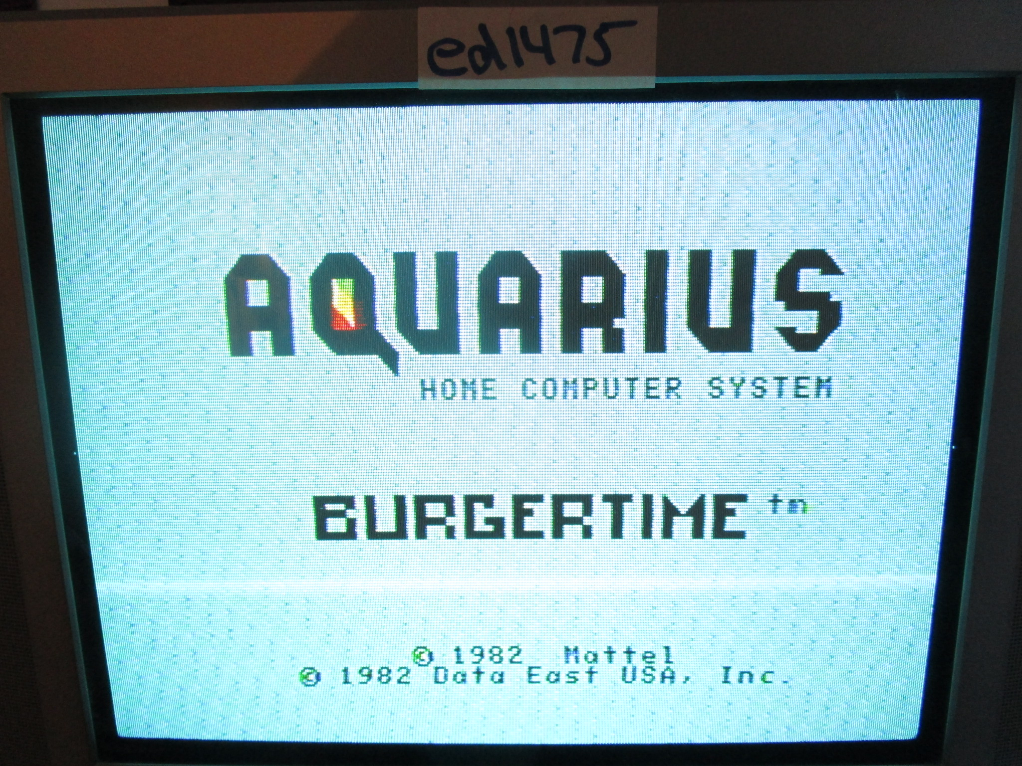 ed1475: BurgerTime (Aquarius) 3,600 points on 2015-02-12 18:56:50