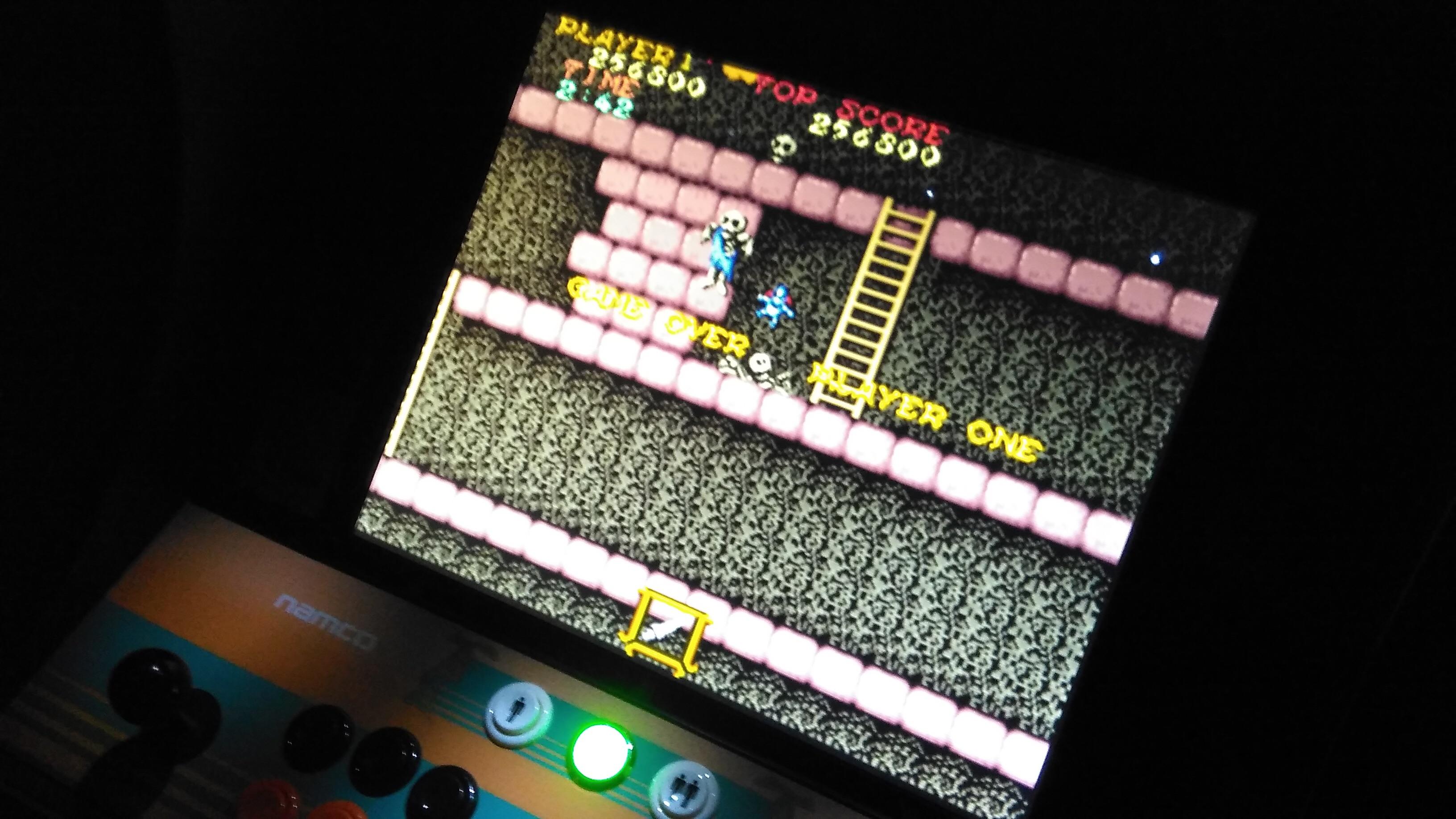 minirecreativas: Ghosts N Goblins (Arcade Emulated / M.A.M.E.) 256,800 points on 2015-02-14 07:33:34