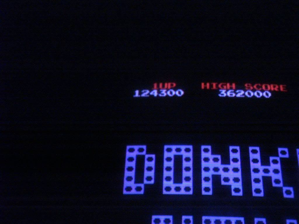 Donkey Kong 124,300 points