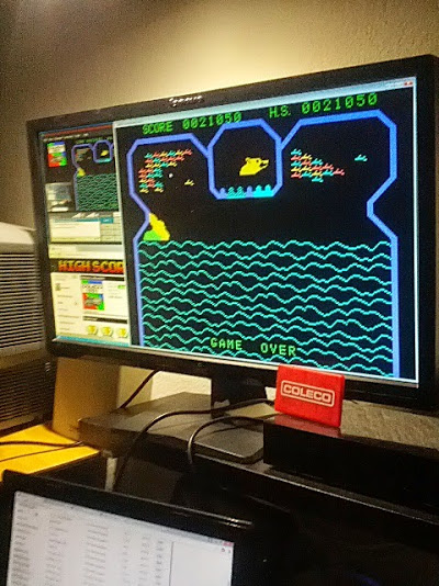 coleco1981: Flipper Slipper: Skill 1 (Colecovision Emulated) 21,050 points on 2015-02-15 18:48:01