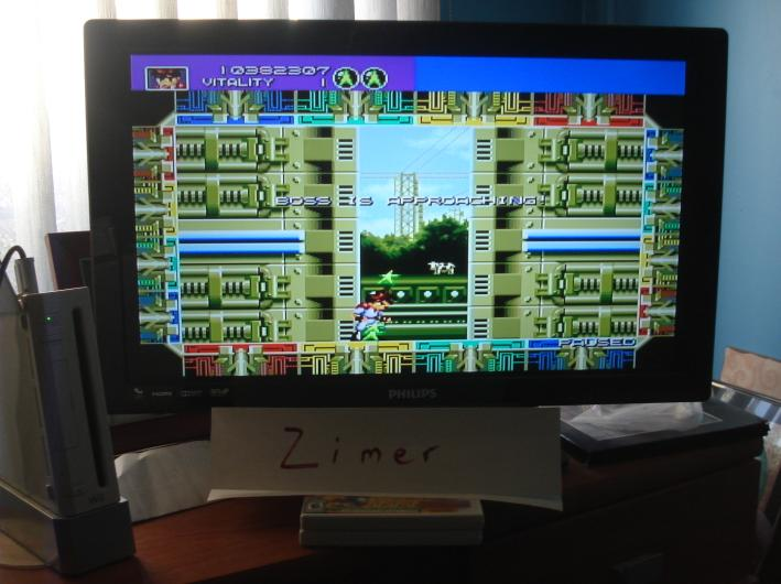 Zimer: Gunstar Heroes (Wii Virtual Console: Genesis) 10,382,307 points on 2015-02-16 12:59:53