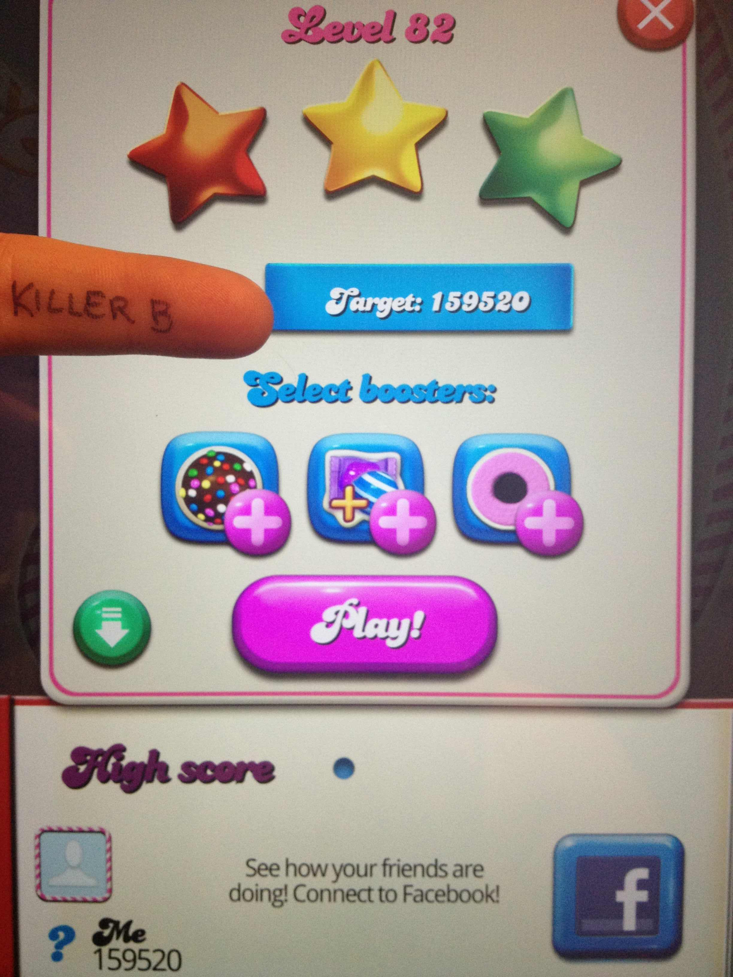 Candy Crush Saga: Level 082 159,520 points