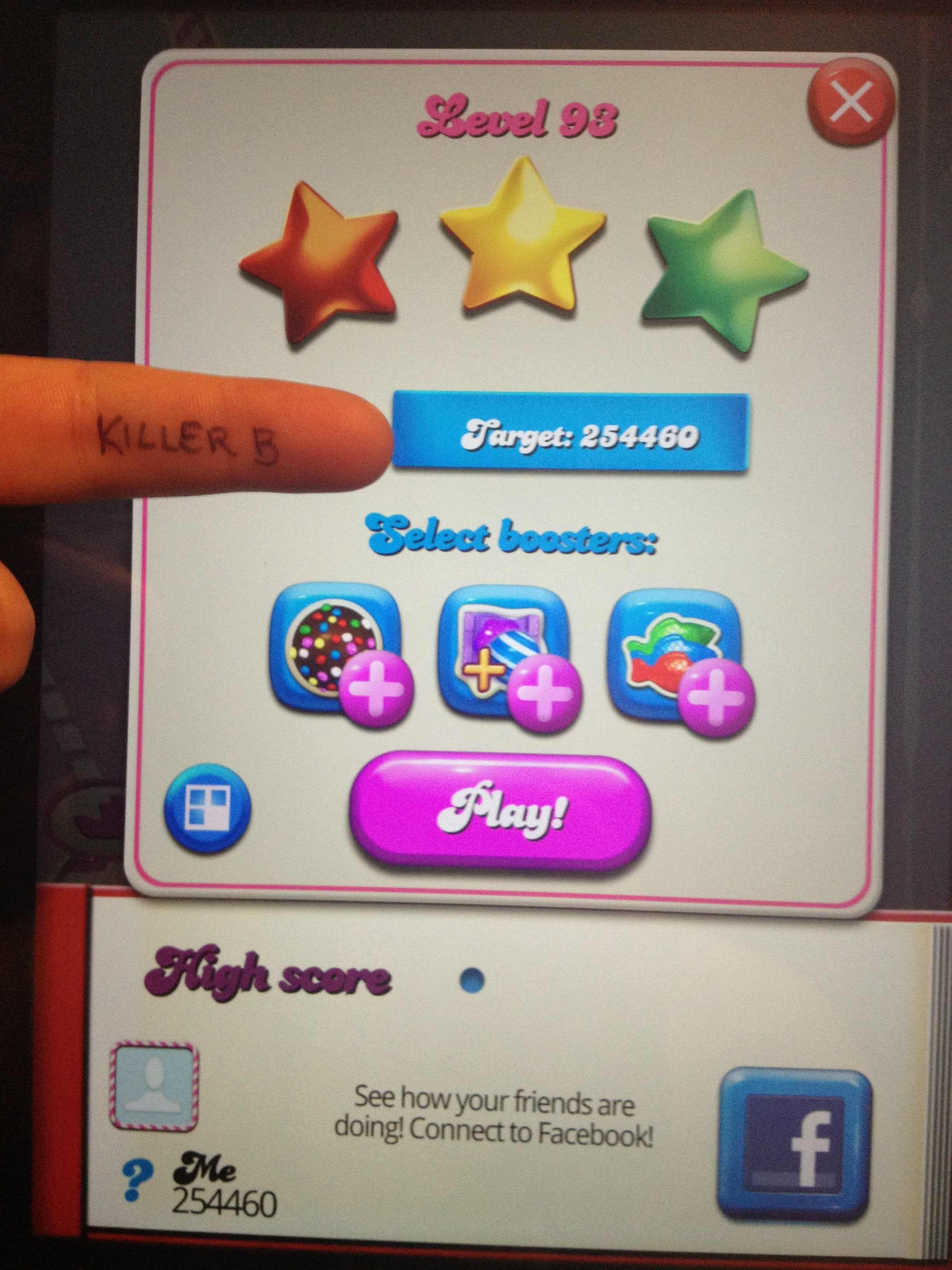 KillerB: Candy Crush Saga: Level 093 (iOS) 254,460 points on 2013-10-19 19:14:14