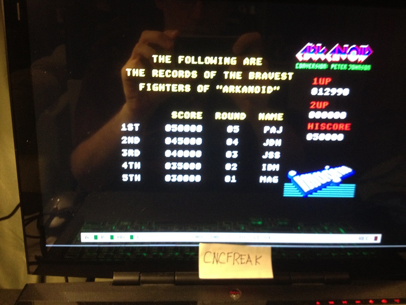 Arkanoid 12,990 points