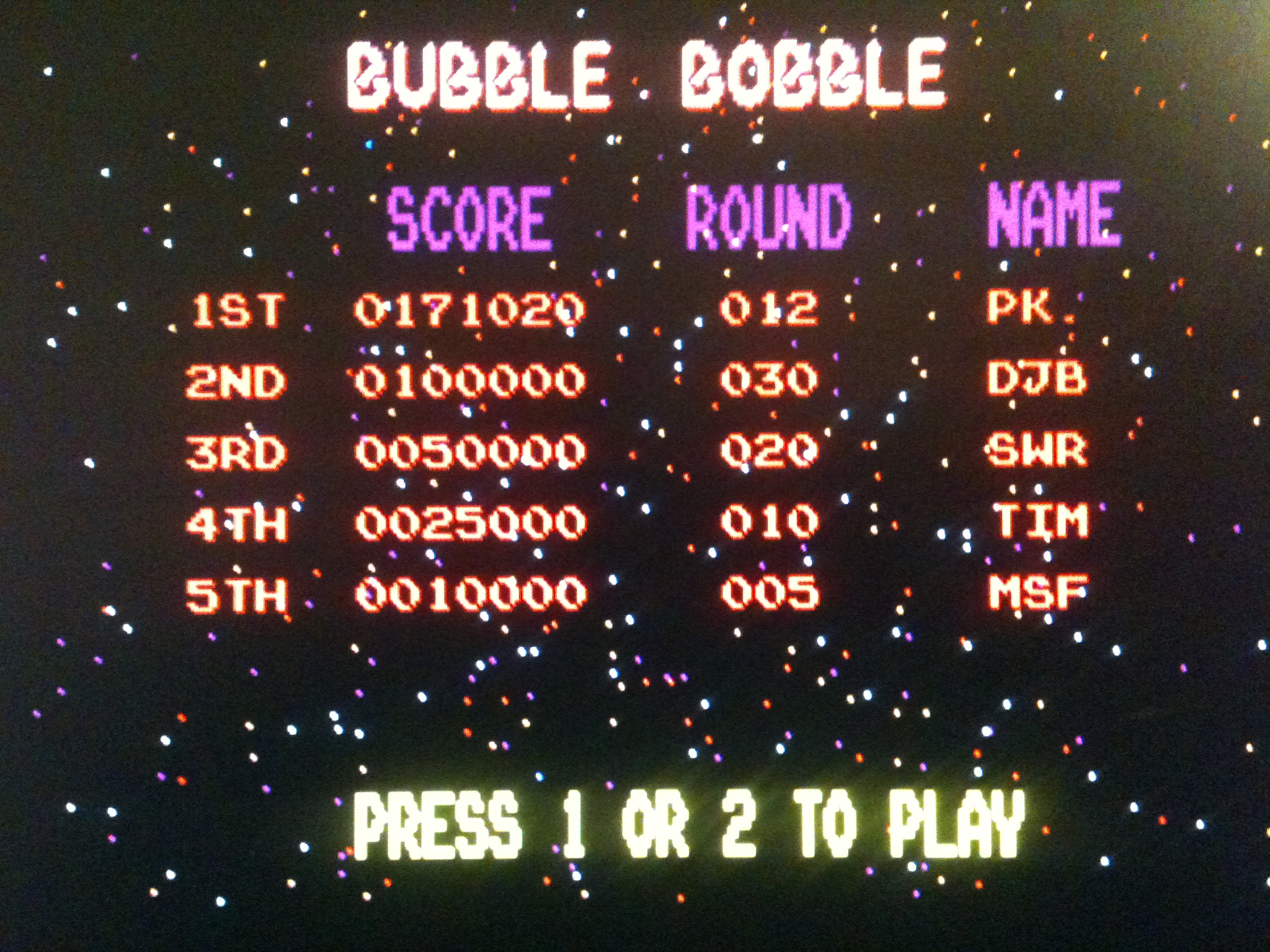 kernzy: Bubble Bobble (Atari ST Emulated) 171,020 points on 2015-02-17 21:27:37