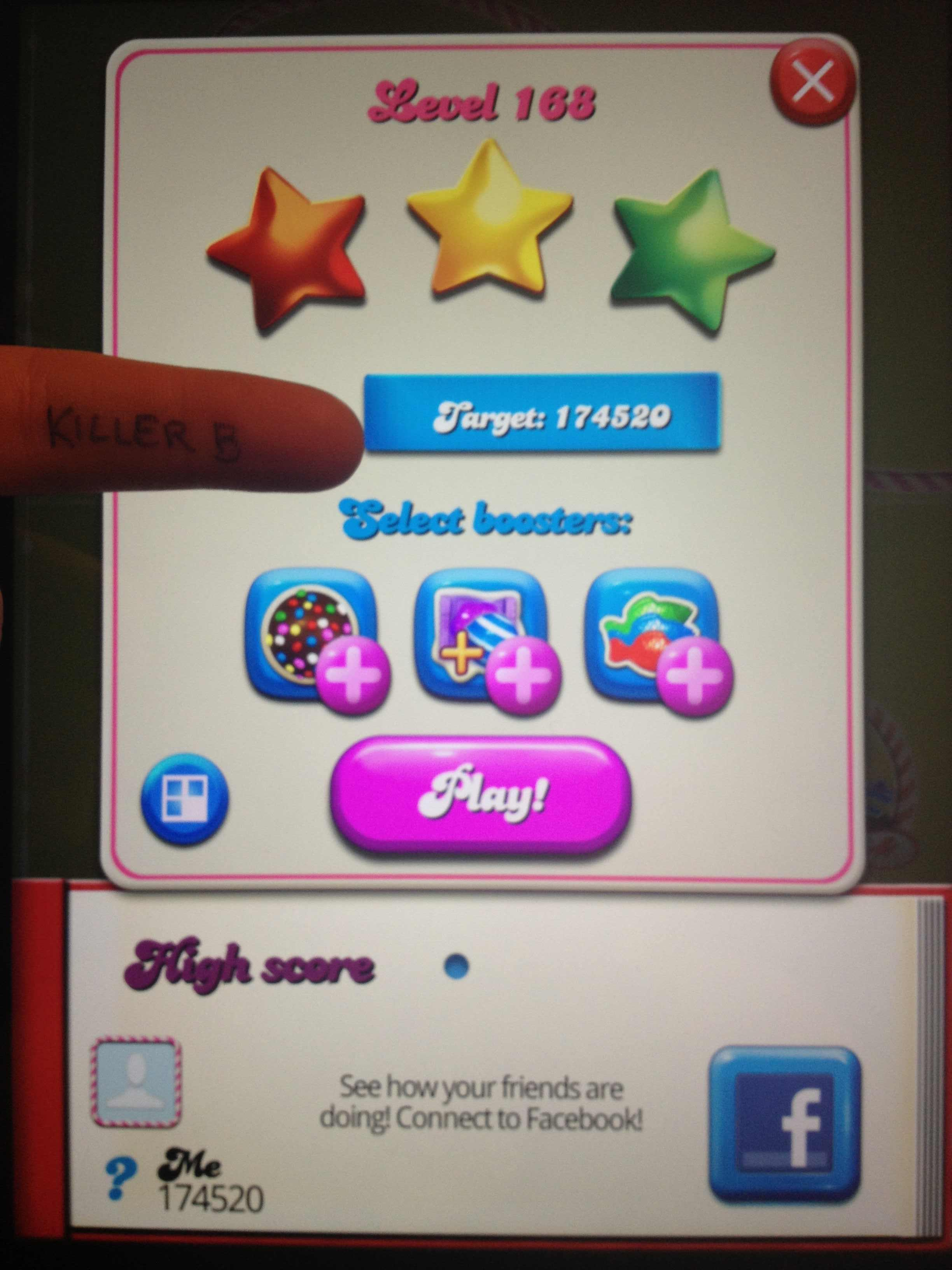 Candy Crush Saga: Level 168 174,520 points